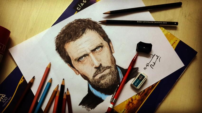 Hugh Laurie par Khaderbaksh